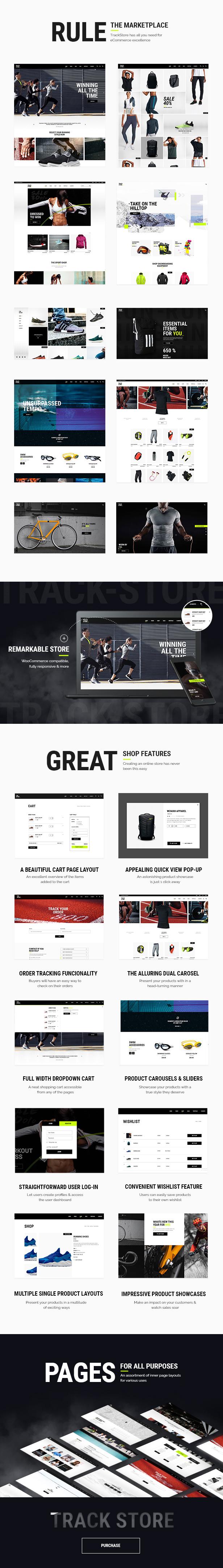 WordPress theme TrackStore - An Urban Sportswear Shop (WooCommerce)